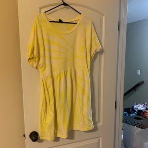 Yellow tie-dye dress